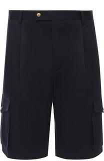 Хлопковые шорты с заниженной линией шага Moncler