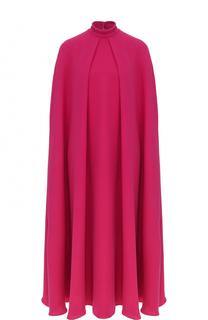 Шелковое платье-миди свободного кроя Valentino
