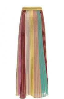 Плиссированная юбка-макси в полоску M Missoni