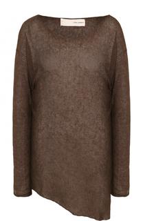 Льняной пуловер асимметричного кроя Isabel Benenato