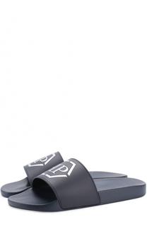 Шлепанцы с логотипом бренда Philipp Plein