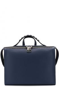 Кожаная сумка для ноутбука с плечевым ремнем Fendi