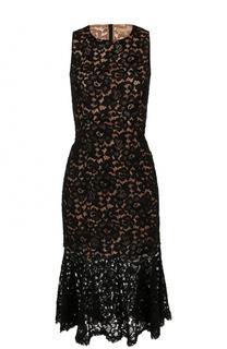 Кружевное платье-миди без рукавов Michael Kors