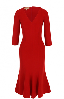 Платье с юбкой-годе с укороченным рукавом Michael Kors
