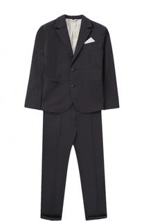Хлопковый костюм с пиджаком на двух пуговицах Giorgio Armani