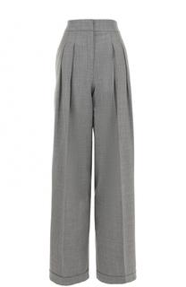 Широкие брюки с защипами и завышенной талией Michael Kors
