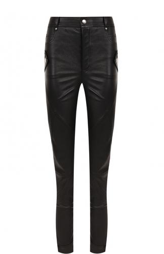 Кожаные брюки-скинни Alexander McQueen