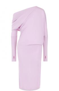 Кашемировое платье-миди с открытым плечом Tom Ford