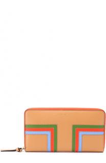 Кожаный кошелек на молнии Tory Burch