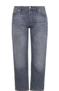 Укороченные джинсы прямого кроя с потертостями Marni