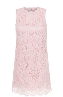 Кружевное мини-платье без рукавов Dolce & Gabbana