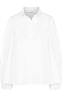 Блуза свободного кроя с защипами Oscar de la Renta