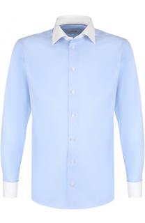 Хлопковая сорочка с воротником кент Eton
