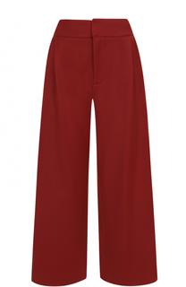 Укороченные широкие брюки с защипами Marni