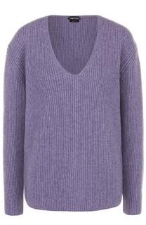 Пуловер фактурной вязки с V-образным вырезом Tom Ford