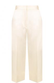 Шелковые укороченные брюки со стрелками Victoria Beckham