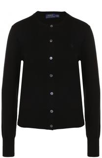 Кардиган прямого кроя с круглым вырезом Polo Ralph Lauren