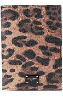 Обложка для документов с леопардовым принтом Dolce & Gabbana