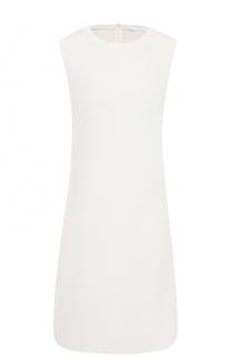 Приталенное мини-платье без рукавов BOSS
