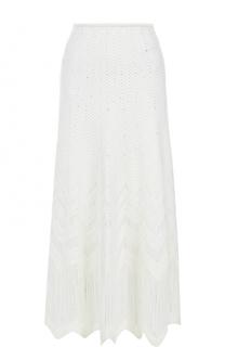 Шелковая юбка-макси фактурной вязки Oscar de la Renta
