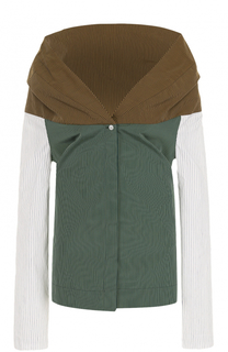 Блуза в полоску с открытыми плечами Isa Arfen