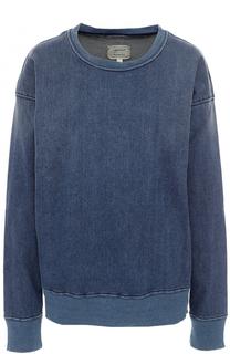 Джинсовый пуловер с круглым вырезом Current/Elliott