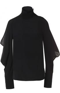 Блуза с воротником-стойкой и оборками Marni