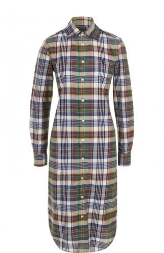 Приталенное платье-рубашка в клетку Polo Ralph Lauren