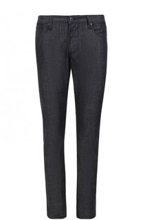 Джинсы прямого кроя с контрастными отворотами Armani Jeans