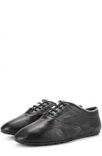 Кожаные ботинки с декоративной отделкой Saint Laurent