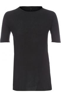 Удлиненная хлопковая футболка с круглым вырезом Masnada