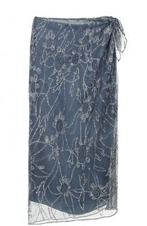 Юбка-миди с разрезом и вышивкой пайетками Polo Ralph Lauren