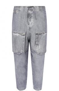 Хлопковые укороченные брюки карго свободного кроя Stone Island