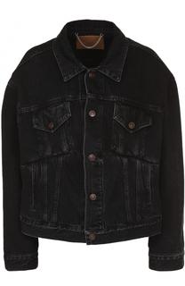 Джинсовая куртка свободного кроя с потертостями Balenciaga