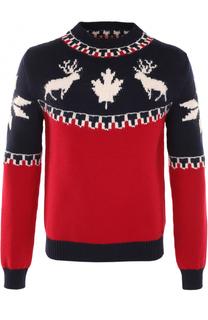 Шерстяной свитер с вышивкой Dsquared2