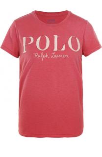 Хлопковая футболка прямого кроя Polo Ralph Lauren