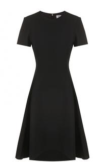 Приталенное платье-миди с коротким рукавом DKNY