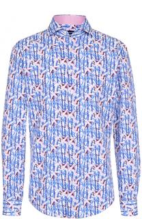 Хлопковая сорочка с принтом Jacques Britt