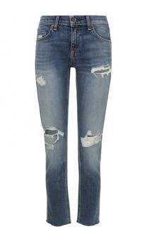 Укороченные джинсы с потертостями Rag&Bone Rag&Bone