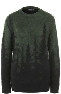 Вязаный пуловер из смеси мохера и шерсти Dsquared2