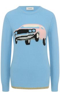 Кашемировый пуловер с принтом Coach