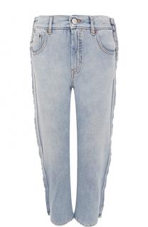 Укороченные джинсы с декоративной отделкой Mm6