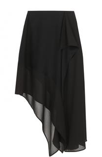 Шелковая юбка ассиметричного кроя Acne Studios