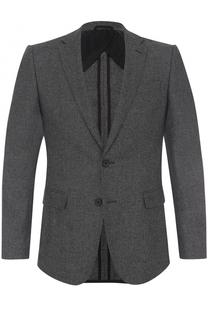 Шерстяной однобортный пиджак BOSS