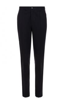Шерстяные брюки прямого кроя с эластичным поясом Lanvin