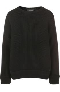 Шерстяной пуловер свободного кроя Dsquared2
