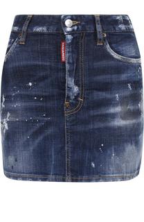 Джинсовая юбка с потертостями Dsquared2