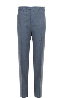 Шерстяные брюки прямого кроя Canali