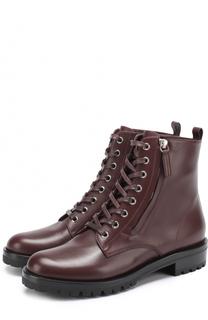 Кожаные ботинки на шнуровке Gianvito Rossi