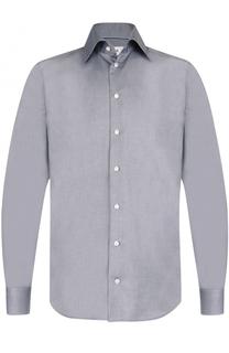 Хлопковая рубашка с итальянским воротником Eton